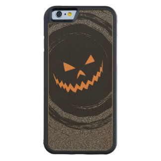 Halloween Jack que brilla intensamente O'Lantern Funda Protectora De Arce Para iPhone 6 De Carved