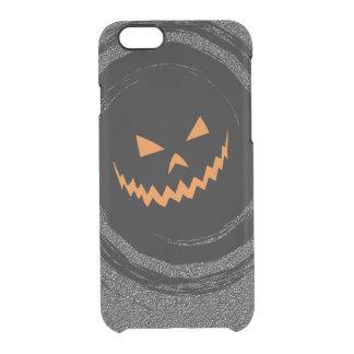 Halloween Jack que brilla intensamente O'Lantern Funda Transparente Para iPhone 6/6s