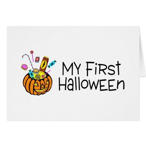 Halloween mi primer Halloween (caramelo de la cala Tarjeta
