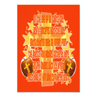 Halloween para los cristianos (poema) invitación 12,7 x 17,8 cm