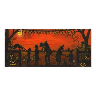 Halloween, party.invitations, truco-o-invitación invitación 10,1 x 23,5 cm