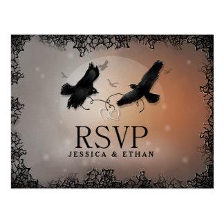 Halloween Ravens casar la postal a juego de RSVP