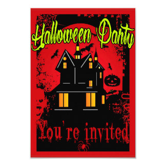 Halloween retro invitación 8,9 x 12,7 cm