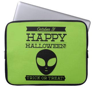 Halloween retro tipográfico funda para ordenador