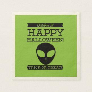 Halloween retro tipográfico servilleta de papel