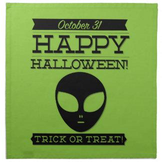 Halloween retro tipográfico servilleta de tela