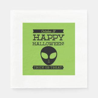 Halloween retro tipográfico servilletas de papel