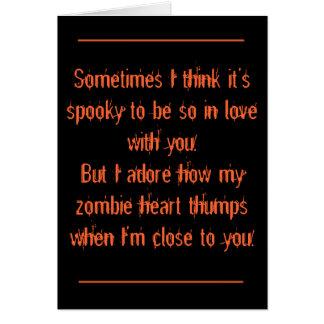 Halloween, romántico tarjeta de felicitación