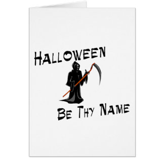 Halloween sea Thy nombre Felicitaciones