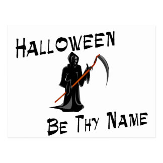 Halloween sea Thy nombre Postal
