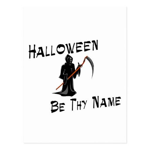 Halloween sea Thy nombre Tarjetas Postales