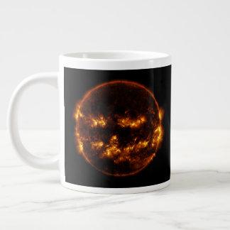 Halloween Sun/Jack-O-Linterna Taza De Café Grande