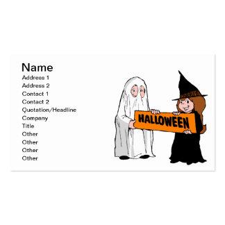 Halloween Tarjetas De Visita