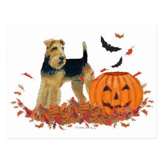 Halloween Terrier Postal