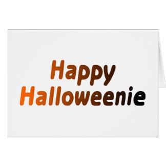 Halloweenie feliz tarjetas