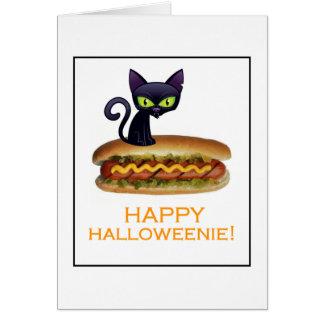 ¡Halloweenie feliz! Tarjeta De Felicitación