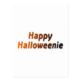 Halloweenie feliz postal