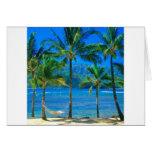 Hamaca Kauai Hawaii de la playa Tarjeta De Felicitación