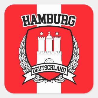 Hamburgo Pegatina Cuadrada