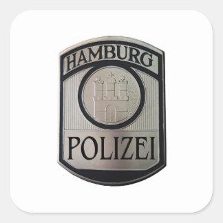 Hamburgo Polizei Pegatina Cuadrada