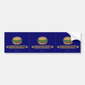 Hamburguesa divertida etiqueta de parachoque
