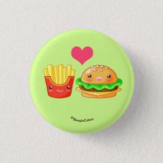 Hamburguesa y botón lindos de Pinback de las