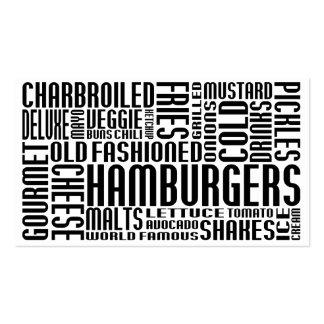 hamburguesas (charla del chit) tarjetas de visita