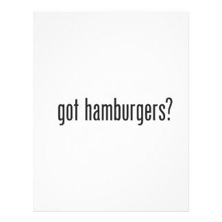 hamburguesas conseguidas folleto 21,6 x 28 cm