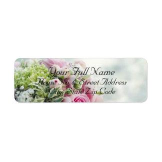 HAMbyWG - etiquetas de dirección - ramo del boda