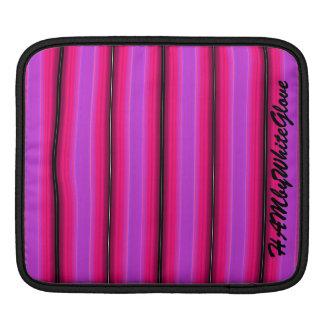 HAMbyWG - manga del carrito - raya violeta rosada Funda Para iPad