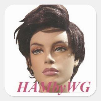 HAMbyWG - maniquí Pegatina Cuadrada