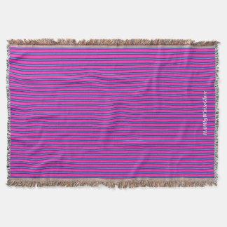 HAMbyWG - manta del tiro - rosa y azul de Barbie