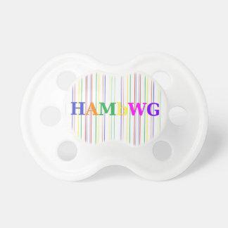 HAMbyWG - pacificador - colores primarios Chupetes De Bebé