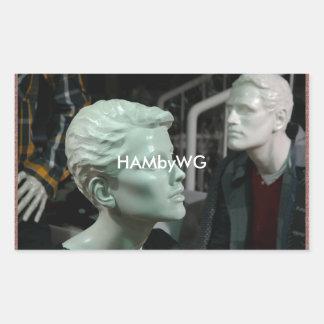 HAMbyWG - pegatinas - maniquíes del pelotón de la Pegatina Rectangular