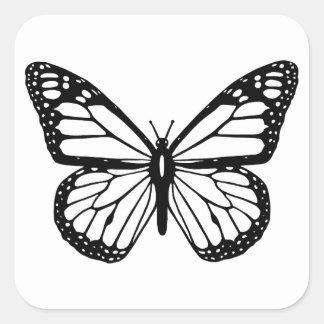 HAMbyWG - pegatinas - mariposa Pegatina Cuadrada