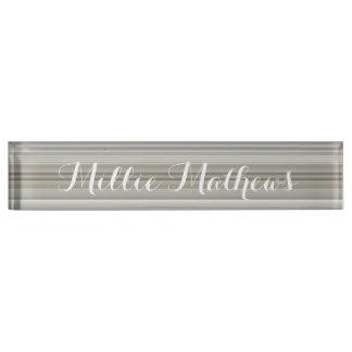 HAMbyWG - placa de identificación del escritorio -