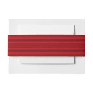 HAMbyWhiteGlove - banda de la invitación - rojo Cintas Para Invitaciones