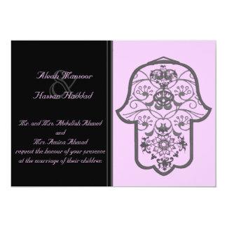Hamsa floral (original) (boda) invitación 12,7 x 17,8 cm