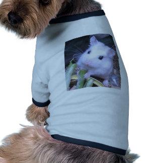 Hámster blanco camiseta de mascota