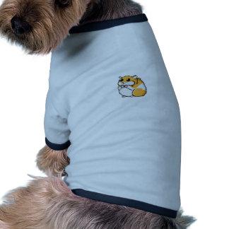 Hámster colorido del dibujo animado con los ojos camiseta con mangas para perro