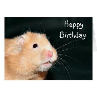 Hámster del feliz cumpleaños tarjeta