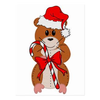 Hámster del navidad postal