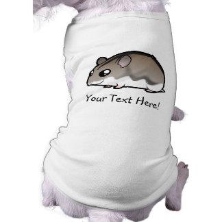 Hámster enano del dibujo animado camiseta sin mangas para perro