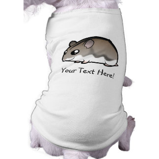 Hámster enano del dibujo animado camisetas de mascota