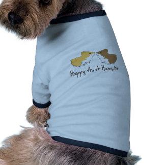 Hámster feliz ropa de mascota