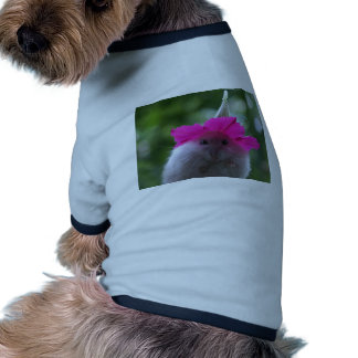 Hámster lindo divertido camiseta con mangas para perro
