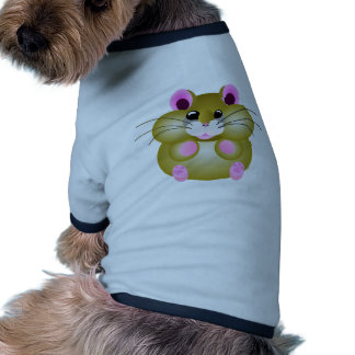 Hámster rechoncho camiseta con mangas para perro