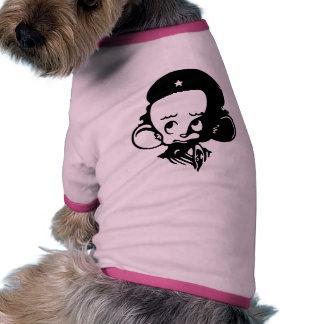 Hámster revolucionario camiseta con mangas para perro
