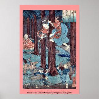 Hana ningún en Ushiwakamaru por Utagawa, Kuniyoshi Impresiones