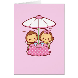 Hana y Hachi - helado Tarjeta De Felicitación